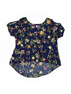 Aqua Short Sleeve Blouse Size L (Kids)