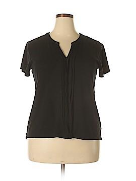 Roz & Ali Short Sleeve Top Size 1X (Plus)