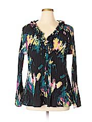 East5th Women Long Sleeve Blouse Size 2X (Plus)