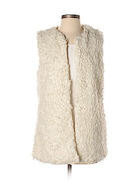 H&M L.O.G.G. Faux Fur Vest Size 8