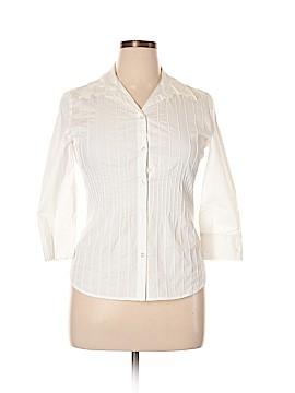 Alfani 3/4 Sleeve Button-Down Shirt Size 12