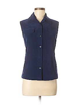 Talbots Sleeveless Button-Down Shirt Size M