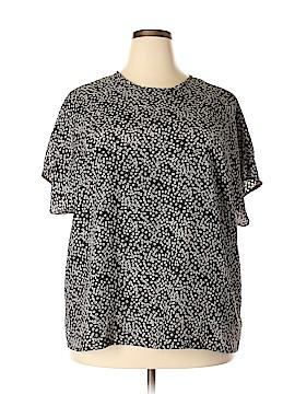 Impressions Short Sleeve Blouse Size 3X (Plus)