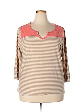 Northcrest 3/4 Sleeve T-Shirt Size 2X (Plus)