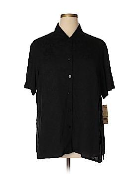 Notations Short Sleeve Button-Down Shirt Size 1X (Plus)