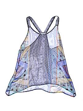 Language Sleeveless Silk Top Size S