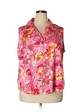 Carolina Colours Sleeveless Button-Down Shirt Size 26 (Plus)