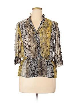 Etcetera 3/4 Sleeve Silk Top Size 14