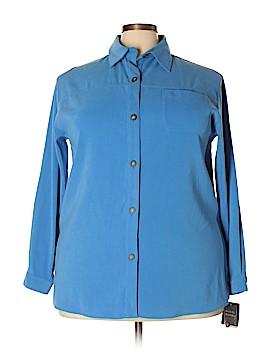 Sag Harbor Long Sleeve Button-Down Shirt Size 18W (Plus)