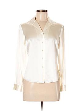 Lafayette 148 New York Long Sleeve Silk Top Size 6 (Petite)