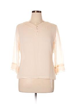 Richard Malcom 3/4 Sleeve Silk Top Size L