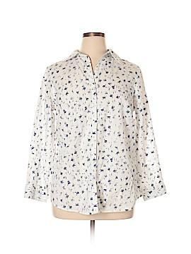 Avenue Studio Long Sleeve Button-Down Shirt Size 14