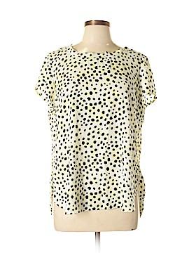 Ann Taylor Short Sleeve Blouse Size Lg Petite