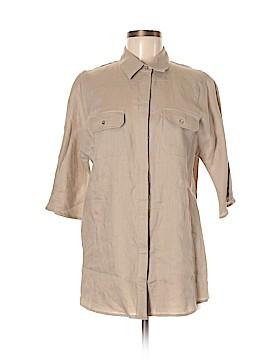 Zoe D. Short Sleeve Button-Down Shirt Size M