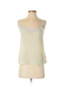 Feather Bone Sleeveless Silk Top Size XS