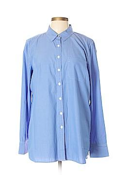 Isaac Mizrahi Long Sleeve Button-Down Shirt Size L