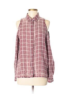 Paper Crane Long Sleeve Button-Down Shirt Size M