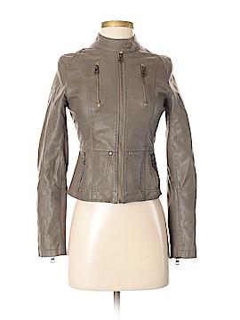 Kanvas Faux Leather Jacket Size S