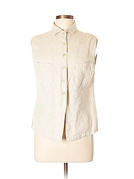 Harve Benard by Benard Holtzman Sleeveless Button-Down Shirt Size L