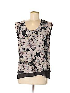 Rebecca Taylor Short Sleeve Silk Top Size 8