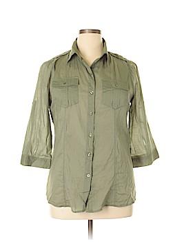 Seven7 3/4 Sleeve Button-Down Shirt Size XL