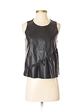 Zara Faux Leather Top Size M