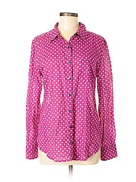 Caslon Long Sleeve Button-Down Shirt Size M
