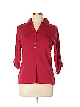 Karen Scott Long Sleeve Polo Size L