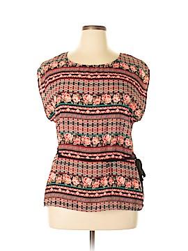 Iz Byer Short Sleeve Blouse Size XL
