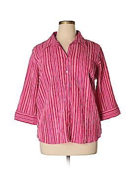 Quizz Woman 3/4 Sleeve Button-Down Shirt Size 22 - 24 (Plus)