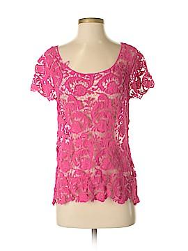 LC Lauren Conrad Short Sleeve Button-Down Shirt Size S