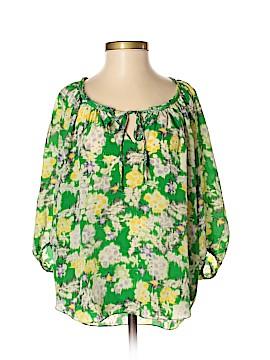 Rebecca Taylor 3/4 Sleeve Silk Top Size 0