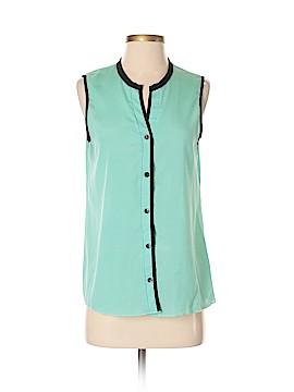 Double Zero Sleeveless Button-Down Shirt Size S