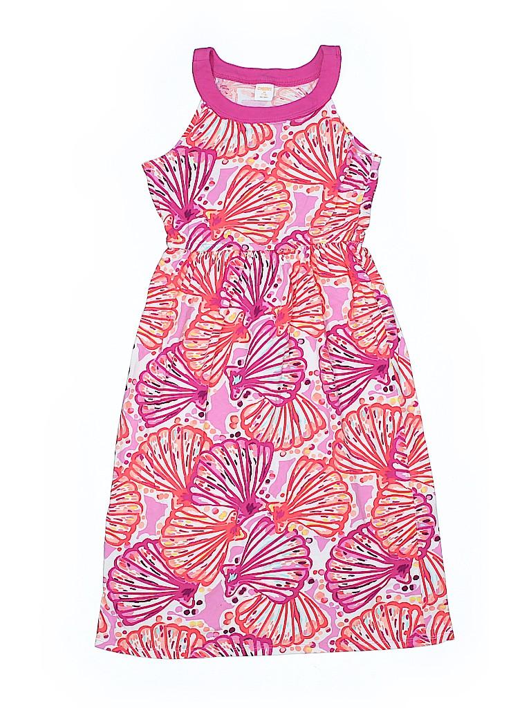 0fad8283638a Gymboree 100% Cotton Print Light Pink Dress Size 7 - 8 - 65% off ...