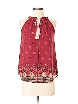 Pink Rose Sleeveless Blouse Size S