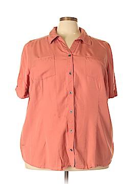 Cj Banks Short Sleeve Blouse Size 3X (Plus)
