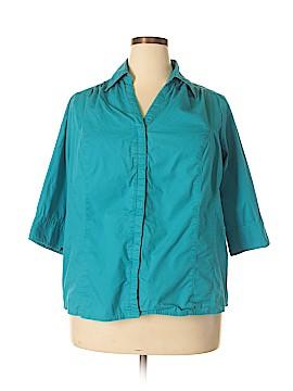 Just My Size Short Sleeve Button-Down Shirt Size 18 - 20 Plus (Plus)