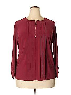 Roz & Ali Long Sleeve Top Size 1X (Plus)