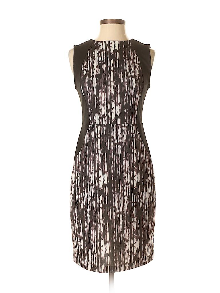 Apt. 9 100% Cotton Print Brown Casual Dress Size XS - 44% off | thredUP