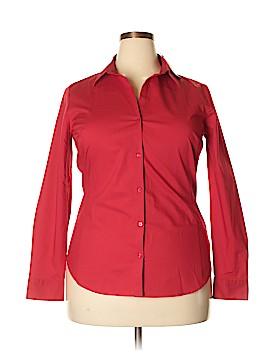 Worthington Long Sleeve Button-Down Shirt Size 18 (Plus)