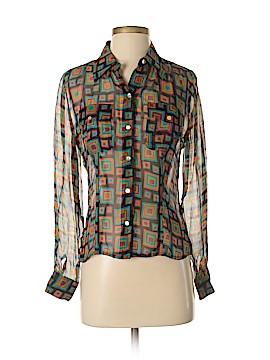Spenser Jeremy Long Sleeve Silk Top Size S
