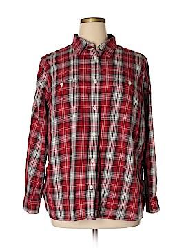 L-RL Lauren Active Ralph Lauren Long Sleeve Button-Down Shirt Size 2X (Plus)