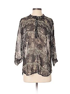 John Eshaya 3/4 Sleeve Silk Top One Size