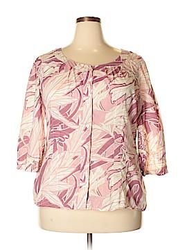 A.n.a 3/4 Sleeve Button-Down Shirt Size 1X (Plus)