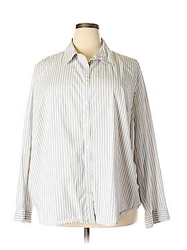 Merona Long Sleeve Button-Down Shirt Size 4X (Plus)