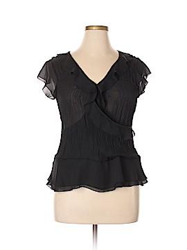 Allison Taylor Short Sleeve Blouse Size XL