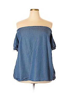 ELOQUII Short Sleeve Blouse Size 22 (Plus)