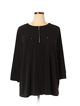 Anne Klein 3/4 Sleeve Blouse Size 3X (Plus)