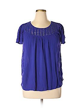 St. John's Bay Short Sleeve Blouse Size XL (Petite)