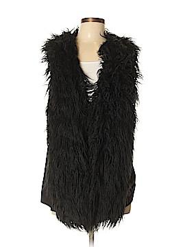 CAbi Faux Fur Vest Size L